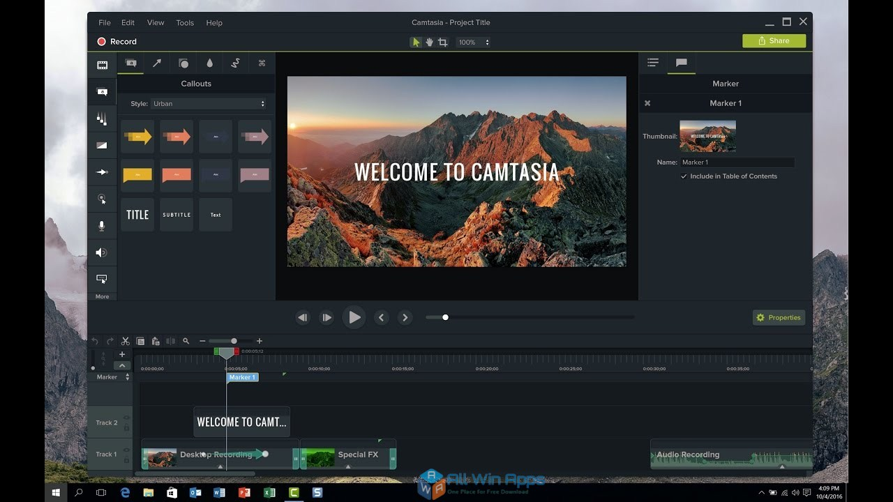 TechSmith Camtasia Studio 9 Free Download offline installer