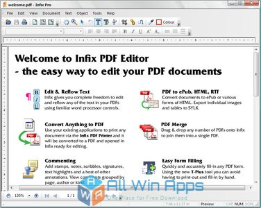 Infix PDF Editor Pro 7 Free Download latest version