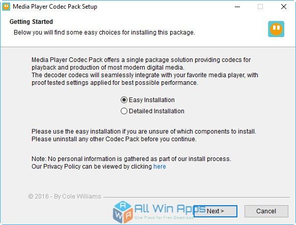 Media Player Codec Pack 4.4.5.707 Offline Installer Download