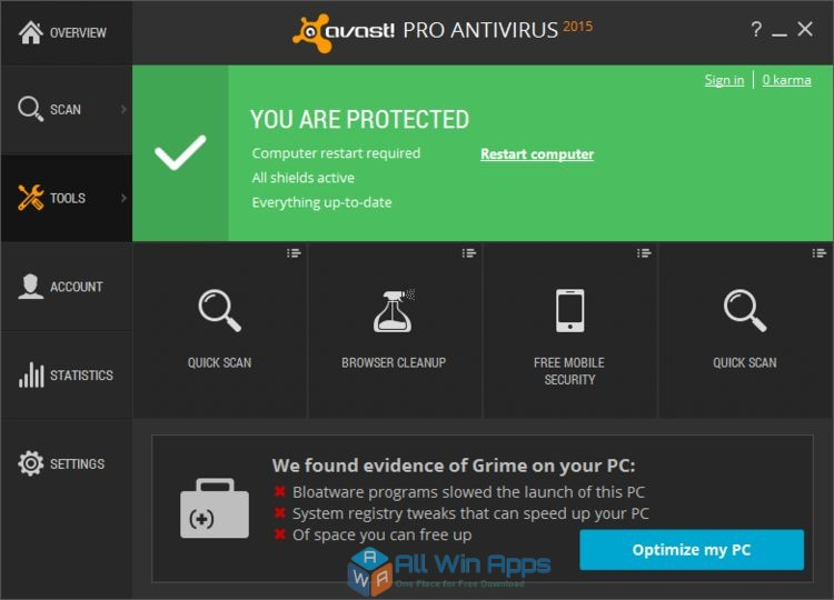 AVAST Free Antivirus Download - All Win Apps
