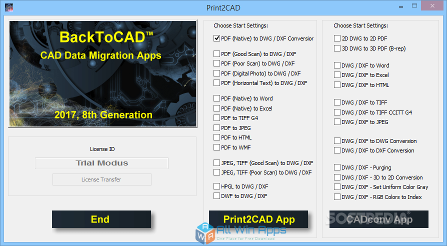 Print2CAD 2018 Free Download for Windows PC