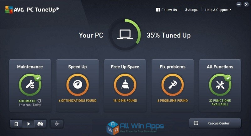 AVG PC TuneUp 2018 16.7 free download full version