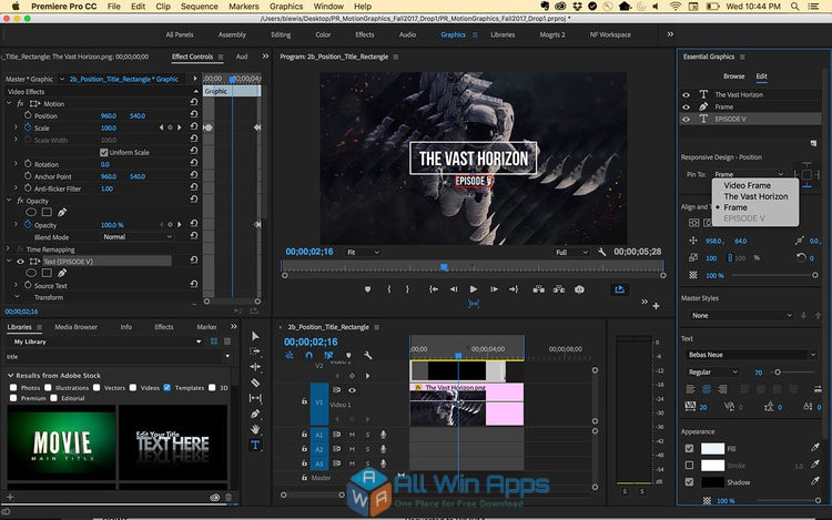 Adobe Premiere Pro CC 2018 12.1 Latest Version Download