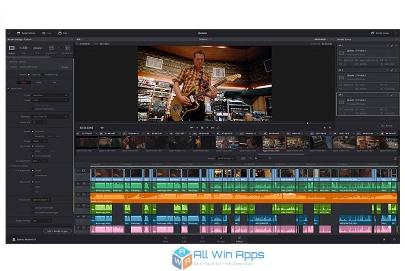 DaVinci Resolve Studio 15 free video editor