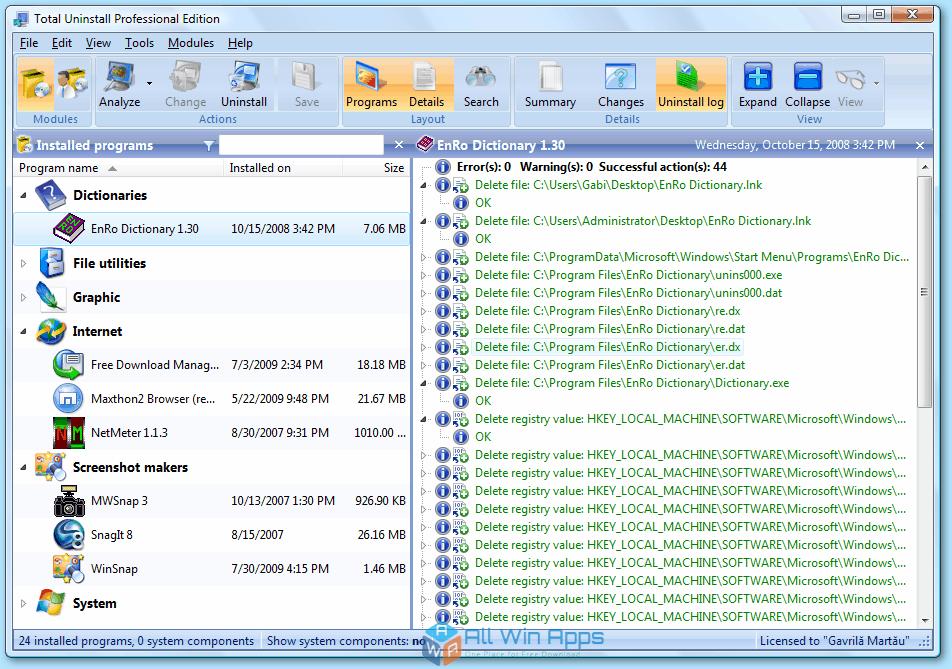 Total Uninstall Pro 6.23 Offline Installer Download